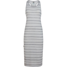 Icebreaker Yanni Tank Midi Dress Dame lunar heather/panther/scratch stripe